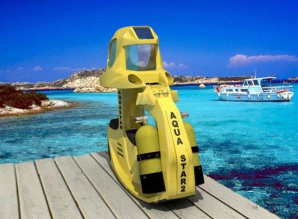 Aqua star2 as2: подводный электроскутер