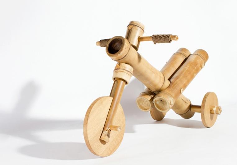 Бамбуковый трехколесный велосипед для детей