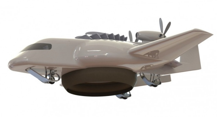 Estolas – гелиевый самолет на воздушной подушке