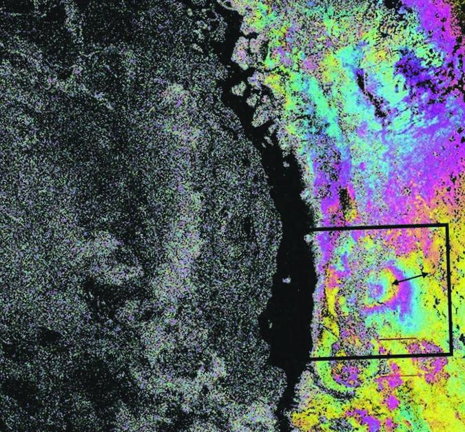 Космический радарный мониторинг смещений земной поверхности над нефтегазовым месторождением тенгиз