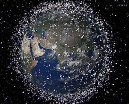 Красивый метод очистки околоземного пространства от космического мусора
