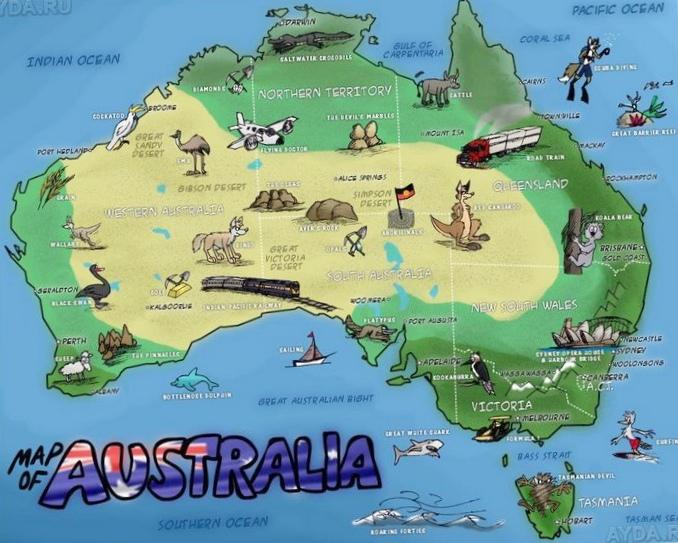Материалы на русском и английском о туризме в австралии (видео, фото, песни)