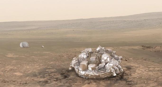 Модуль скиапарелли возможно разбился при приземлении на марс