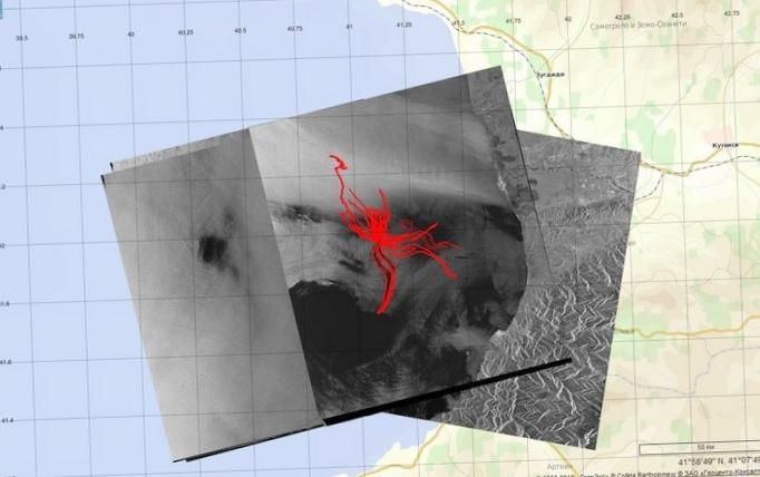 Нефтепроявления в юго-восточной части черного моря по данным космической радиолокации