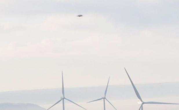Нло над ветропарком в великобритании