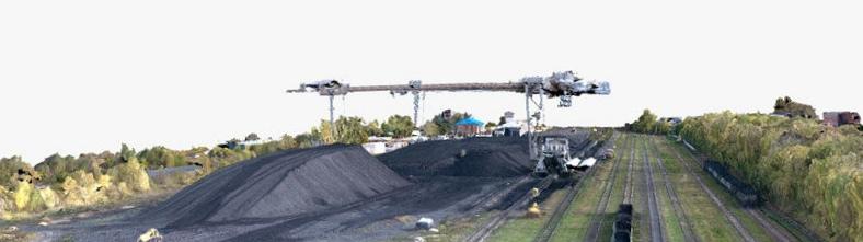Определение объема насыпи на примере угольного склада