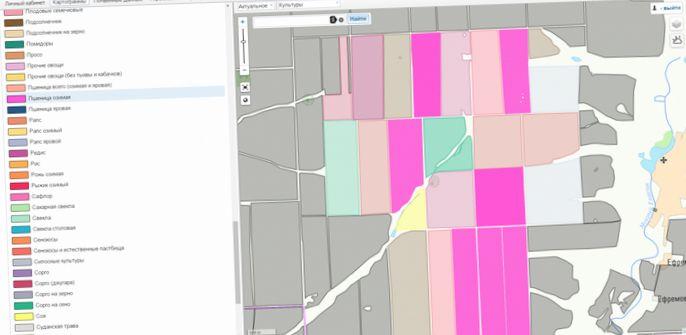 Система спутникового мониторинга состояния полей и прогнозирования урожайности