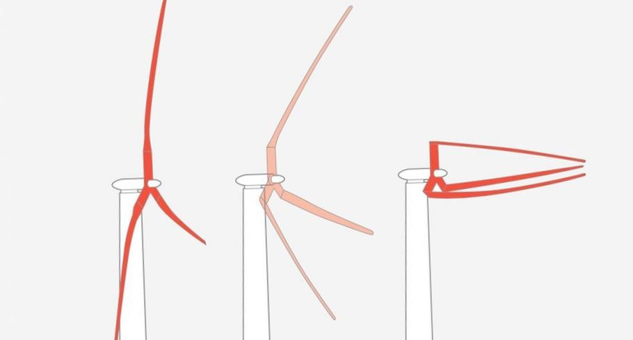 Складные модульные лопасти для гигантских ветряных турбин