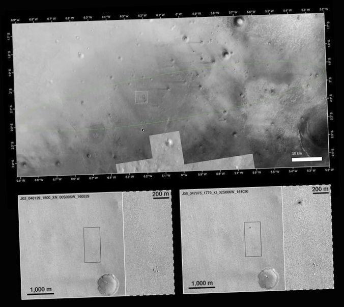 В европейском космическом агентстве отрицают, что скиапарелли разбился во время посадки на марс