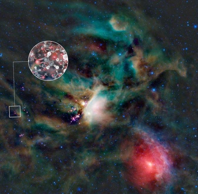 В окрестностях молодой звезды обнаружены кирпичики жизни