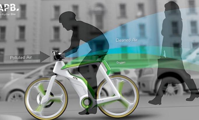 Велосипед будущего: крути педали и очищай воздух!