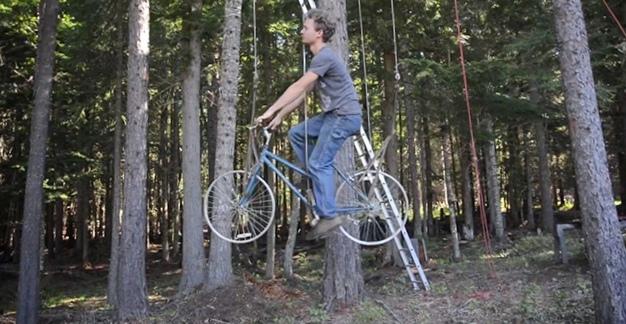 Велосипед в качестве лифта