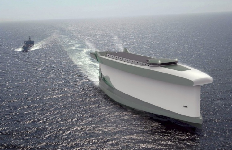 Vindskip: металлический парус-корпус судна сэкономит топливо
