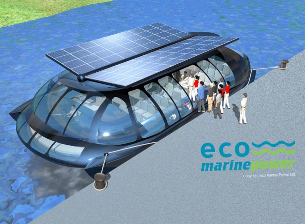 Водная «стрекоза» с солнечными крыльями от eco marine power